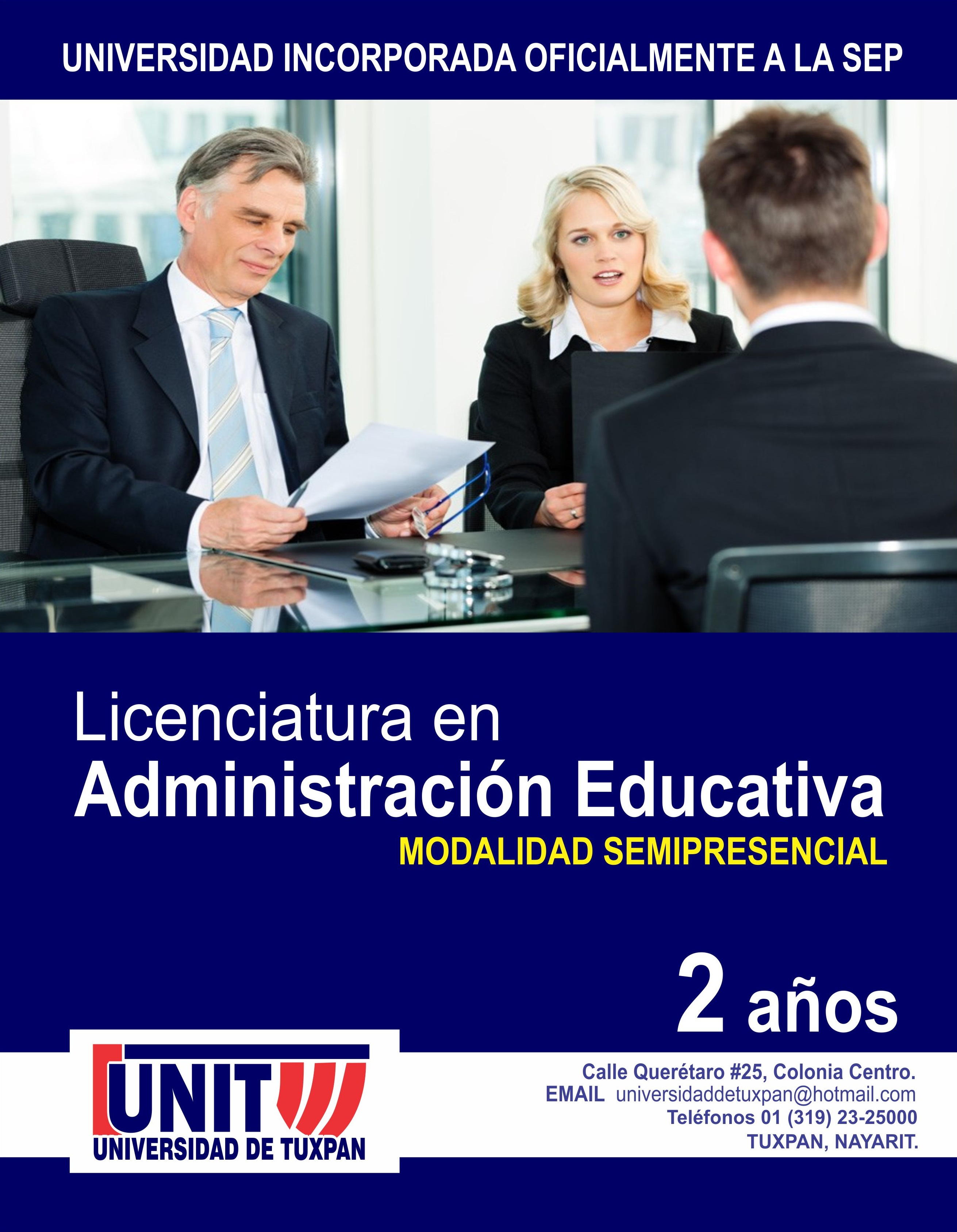 RVOE oficial: Licenciatura en Administración Educativa
