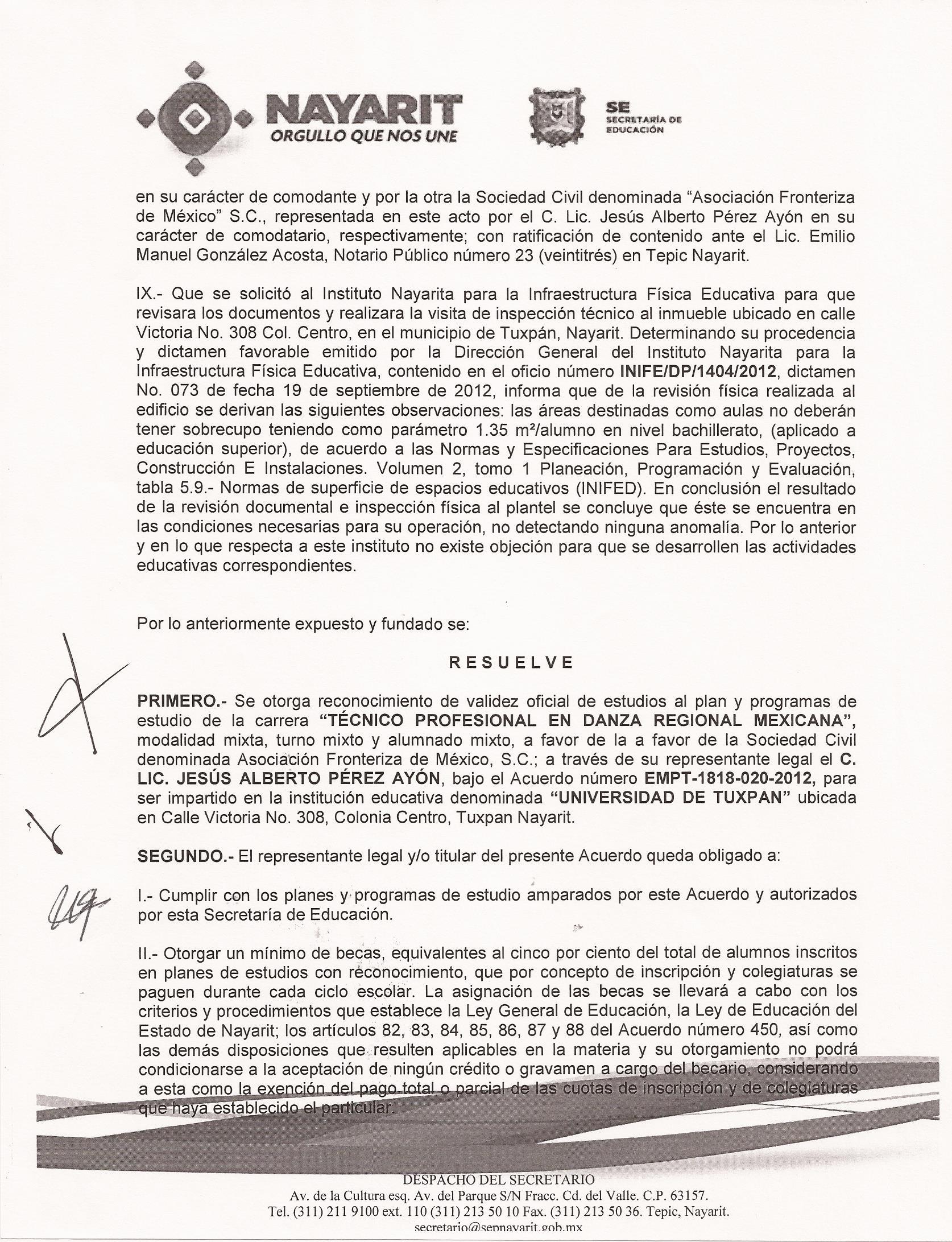 RVOE oficial: Técnico en Administración de Empresas