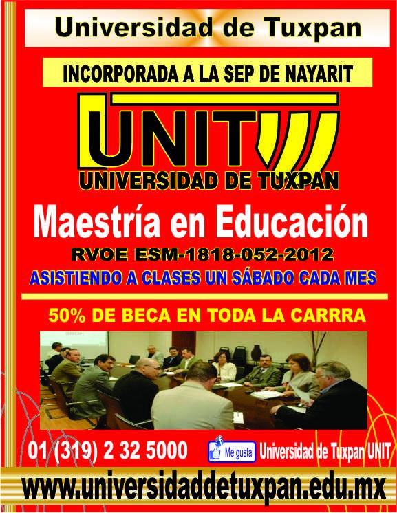 RVOE oficial: Maestría en Educación